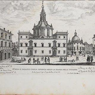 Studio e Palazzo della Sapienza verso la Piazza della Dogana
