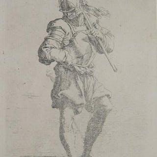 Soldato che guarda per terra Salvator ROSA ITALIAN...