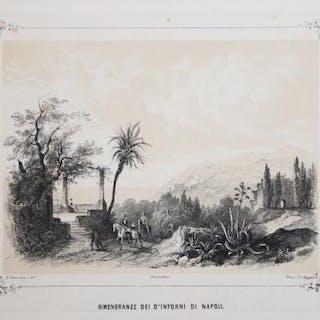 Rimembranze dei d'intorni di Napoli Enrico Gonin Campania,Italia,Vico Equense