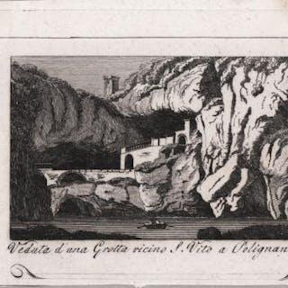 Veduta di una grotta vicino S