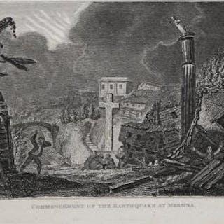 Commencèment of the Earthquake at Messina James Barry Italia,Messina,Sicilia