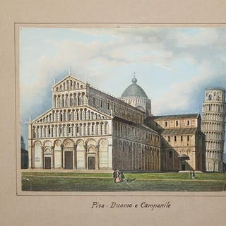 Pisa - Duomo e Campanile Ferdinando ARTARIA Italia,Pisa,Toscana