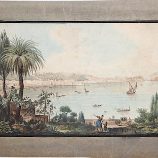 View of Naples taken from Pausilipo Pietro Fabris...
