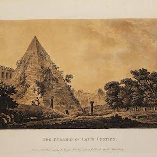 The Pyramid of Caius Cestius James John MERIGOT Italia,Piramide Cestia,Roma