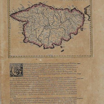 Corsica Willem Janszoon BLAEU Corsica,Italia,Sardegna e Corsica