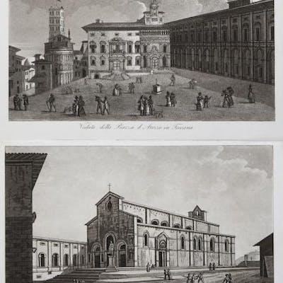 Veduta della Piazza d'Arezzo in Toscana / Veduta della...
