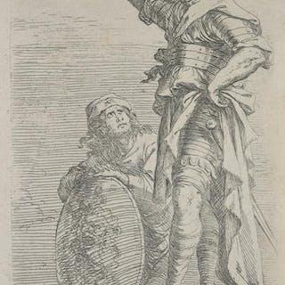 Soldato con braccio destro alzato Salvator ROSA ITALIAN...