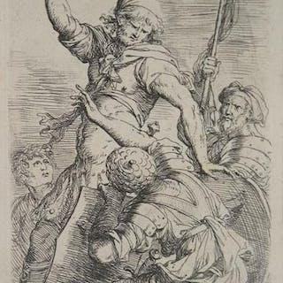 Alfiere e tre soldati Salvator ROSA ITALIAN SCHOOL,SCUOLA ITALIANA,Secolo XVII