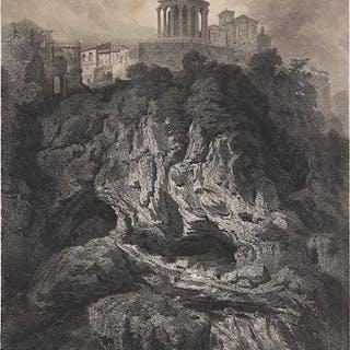 Die Neptuns Grotte mit den Tempeln der Vesta un Sibilla inTivoli
