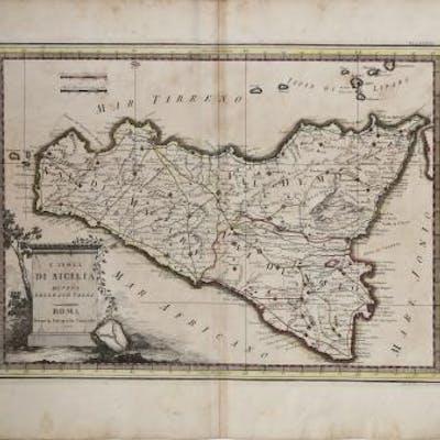L'Isola di Sicilia divisa nelle sue valli Giovanni Maria CASSINI Italia,Sicilia