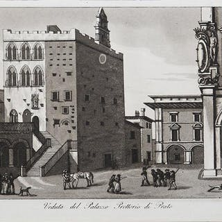 Veduta del Palazzo Prettorio di Prato Francesco GANDINI Italia,Prato,Toscana