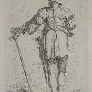 Soldato di spalle Salvator ROSA ITALIAN SCHOOL,SCUOLA ITALIANA,Secolo XVII