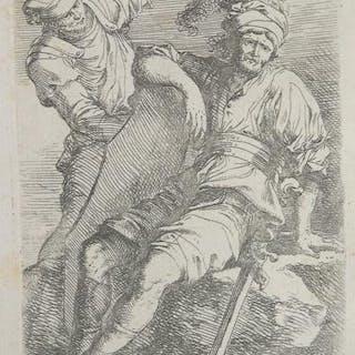 Soldato in riposo ed uomo in piedi Salvator ROSA ITALIAN...