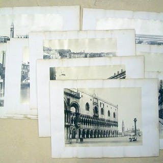 Venedig: 10 Orig.- Photographien (Vintage Albumin-Abzüge)