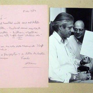 [Autograph und Original-Fotografie desselben]. Ginsberg, Allen Varia
