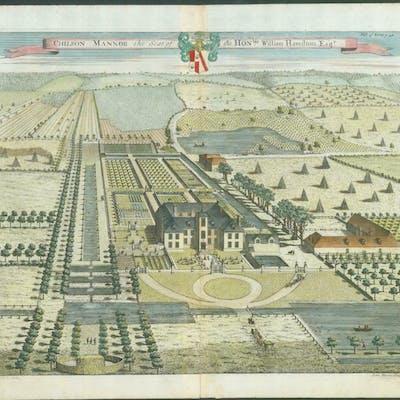 1719 Kent Antique Print Kip Chilson Chilston Manor Park Barnebys