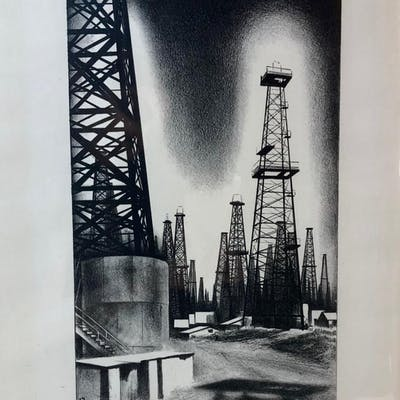 Oil Country. [TEXANA]. LOZOWICK, Louis (1892-1973)