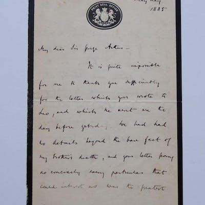 Autograph Letter Signed PRIMROSE