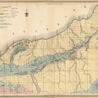 Geological Map of the District Between Portage Lake and Montreal River