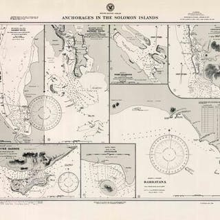 South Pacific Ocean - Solomon Islands - Anchorages in the...