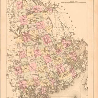 Map of Washington Co., Maine