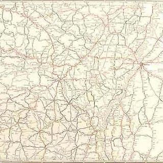Rand McNally Junior Auto Road Map of Arkansas