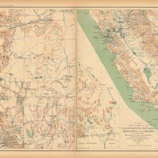 Civil War Atlas: Plate 134; Topographical Map of California