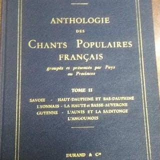Anthologie des Chants Populaires Français Tome II