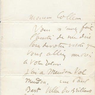 Auguste RODIN - lettre autographe signée Auguste RODIN