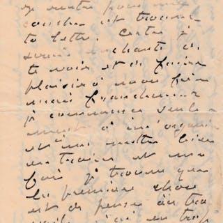 Claude MONET Lettre autographe signée à son épouse sur...