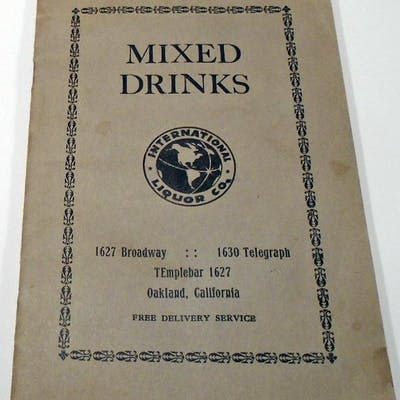 Mixed Drinks [and] Bartender's Manual [Cocktails] ANONYMOUS