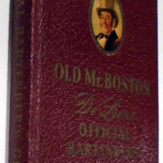 Old Mr. Boston De Luxe Official Bartender's Guide [SIGNED AND INSCRIBED] COTTON