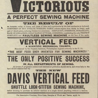 Vertical Feed Victorious, A Perfect Sewing Machine Leaflet