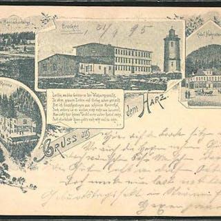 Vorläufer-Ansichtskarte Ganzsache PP9F284 /02: Hotel auf dem Brocken