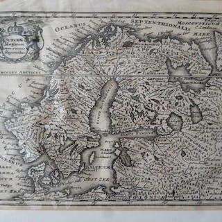 Orig. Kupferstich: Karte Norwegen