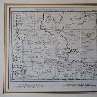 Orig. Kupferstich: Karte von Schlesien