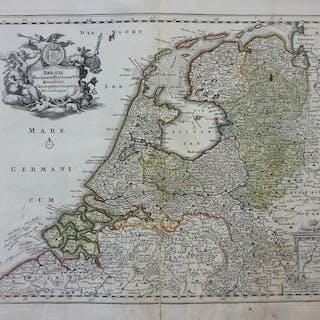 Orig. kolorierter Kupferstich: Belgii Foederati (o) Provincia VII