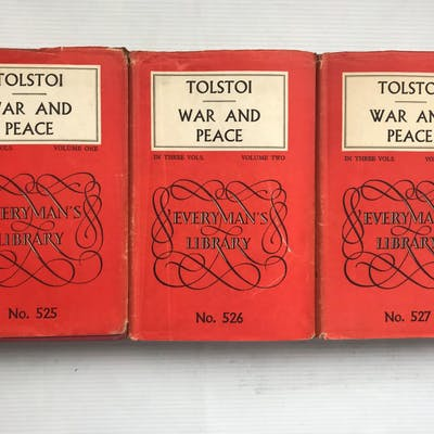War and Peace Volumes 1, 2 and 3 Tolstoy, Leo (Tolstoi)