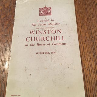 A SPEECH BY THE PRIME MINISTER.IN THE HOUSE OF COMMONS