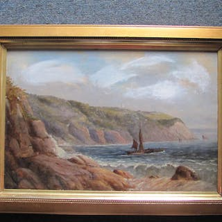SEASCAPE VIEW - ORIGINAL OIL PAINTING (FRAMED) SIDNEY YATES JOHNSON JOHNSON