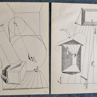 TWO (2) DADA LITHOGRPHS - BY ERNST MAX ERNST MAX ERNST
