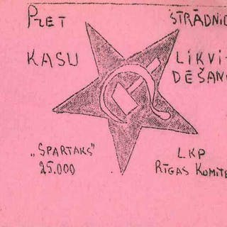 Eight Underground Propaganda Leaflets by Latvian Communists