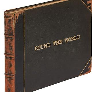 """[Photo Album]: """"Round the World""""   Ephemera,Photography,Travel Books"""