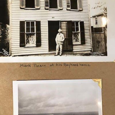 1937 TRAVEL SCRAPBOOK Niagara Falls MARK TWAIN Photos...