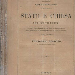 Stato e Chiesa negli scritti politici dalla fine della...