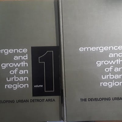 Emergence and Growth of an Urban Region: the developing urban Detroit area