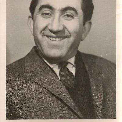 Black and white portrait photograph Petrosian
