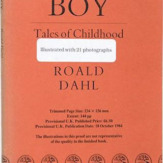 Boy. Tales of Childhood. DAHL, Roald.
