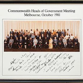 Group photograph of the Commonwealth heads of government meeting in Melbourne
