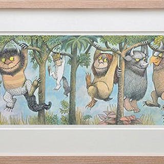 Max and the Wild Things Hanging from Branches